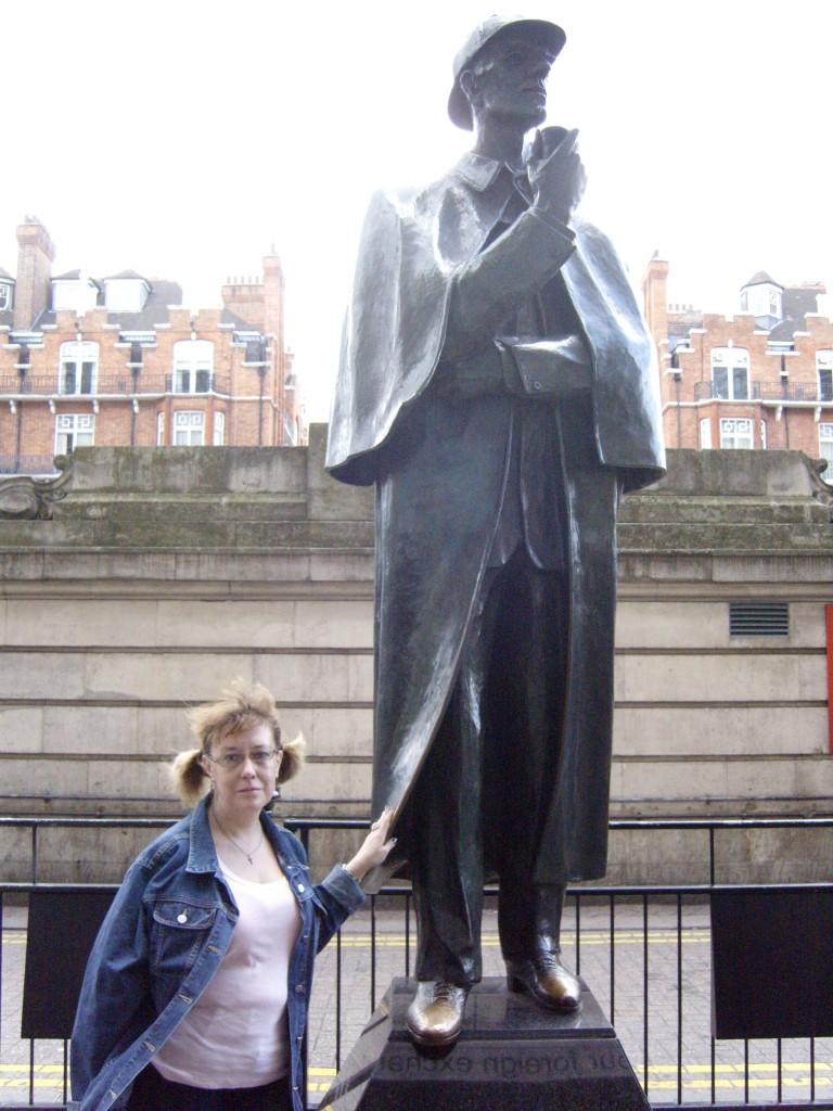 Holmes and I near Tussauds